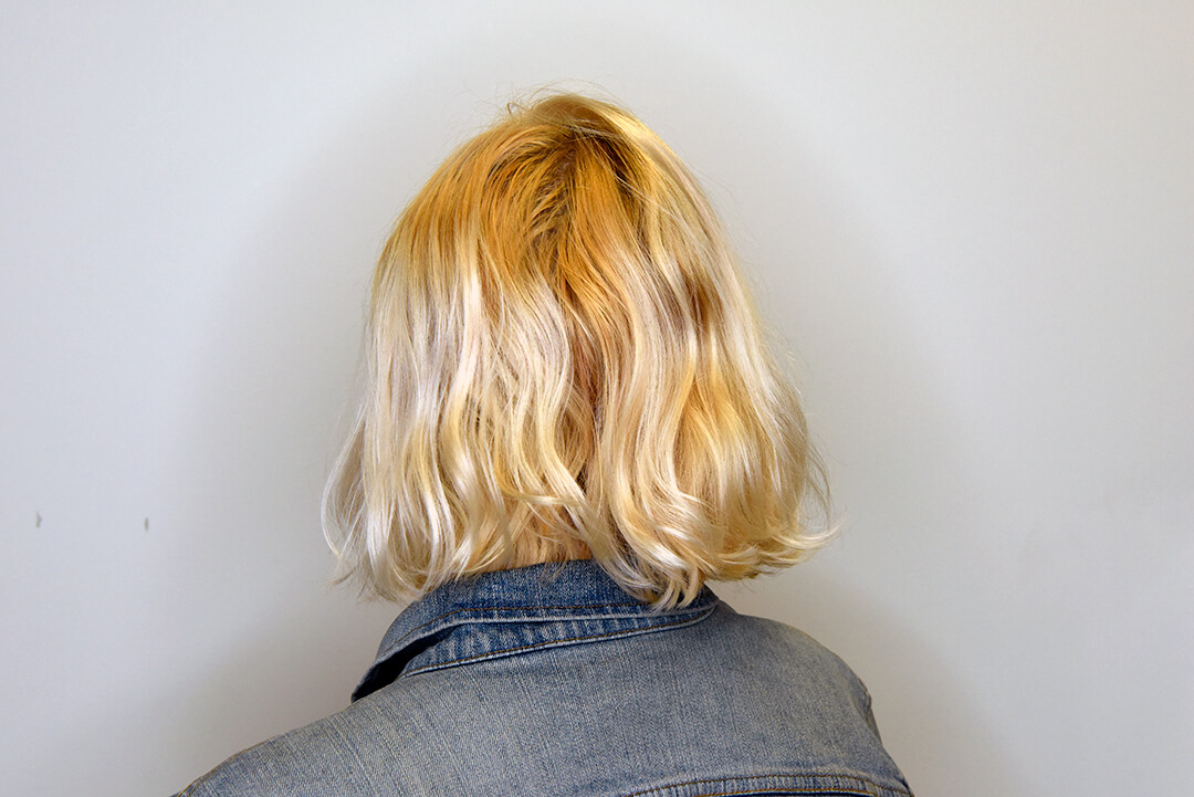 Holographic Hair Color - Step 1 Back
