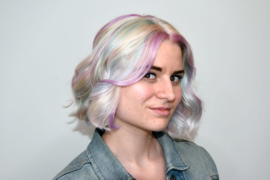 Beautiful Holographic Hair Color