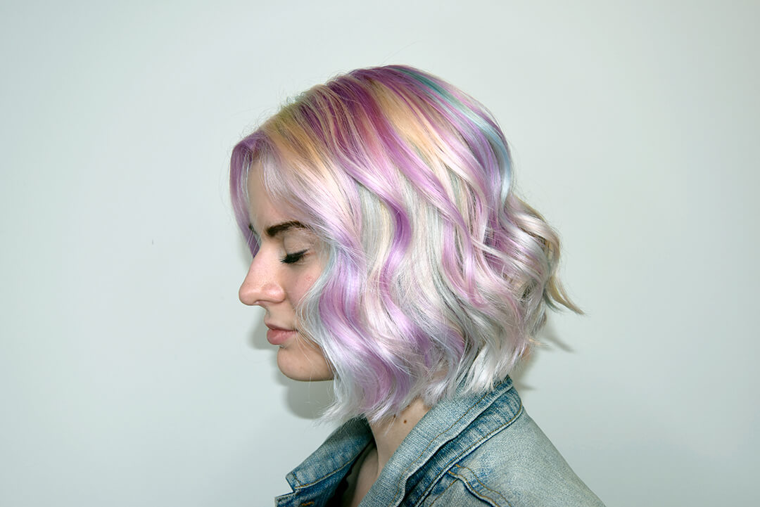 Shinny Holographic Hair Color